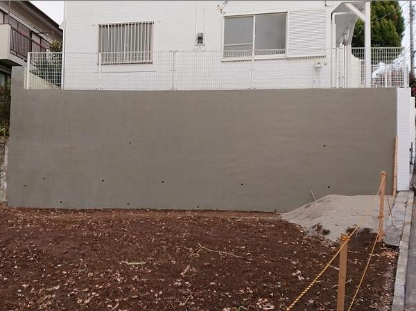 ブロック塀のお化粧